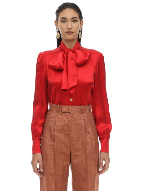 GUCCI Silk & Viscose Shirt in red