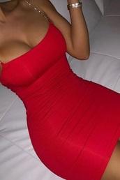 dress,red dress,diamonds
