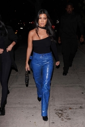 pants,asymmetrical,asymmetrical top,leather,leather pants,kourtney kardashian,kardashians,celebrity