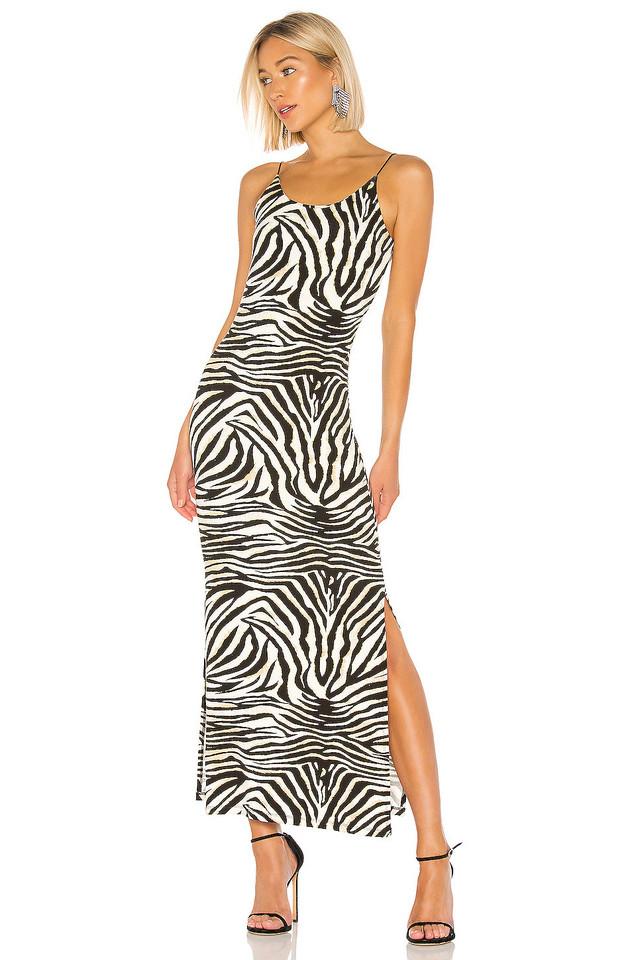 Bardot Zebra Print Dress in black / white