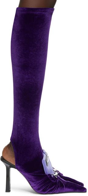 Ancuta Sarca J2 Sock Tall Boots in violet