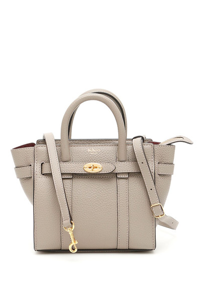 Mulberry Micro Zipped Bayswater Bag in grey