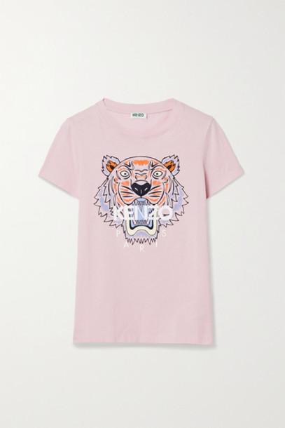 KENZO - Printed Cotton-jersey T-shirt - Baby pink