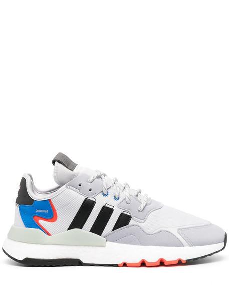adidas mesh panelled sneakers in grey