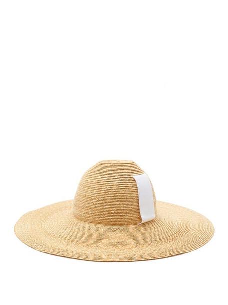 Lola Hats - Sugarcone Wide-brim Straw Hat - Womens - Beige White