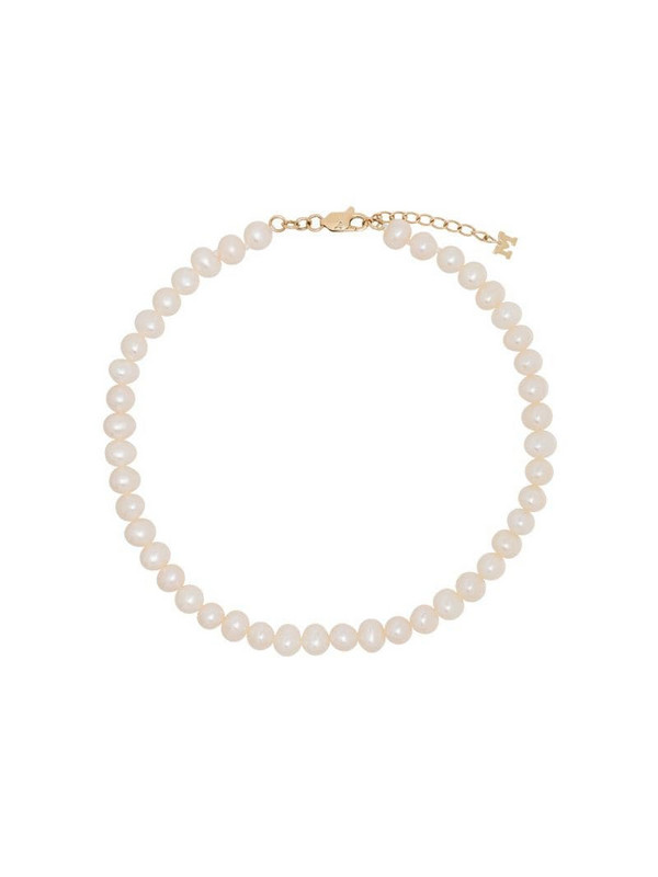 Mateo 9kt yellow gold pearl anklet
