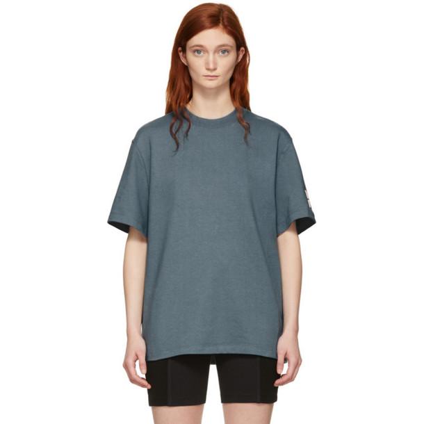 alexanderwang.t Grey Oversized Wash & Go Puff Logo T-Shirt