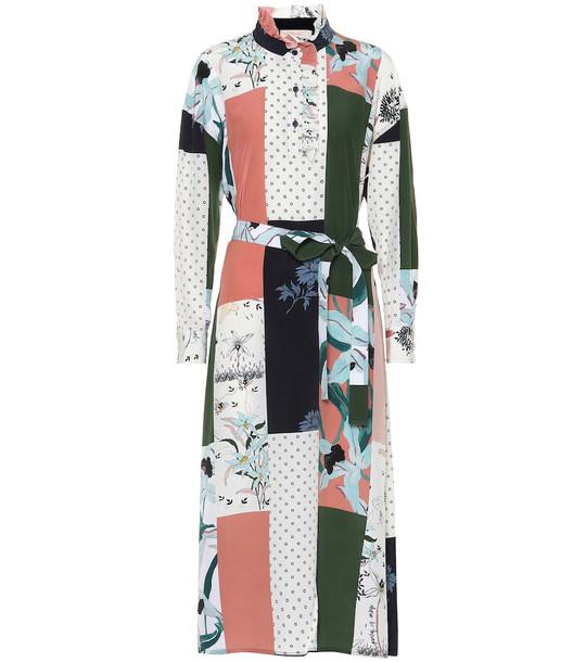 Tory Burch Patchwork printed silk dress