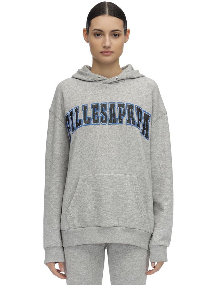 FILLES A PAPA Cotton Sweatshirt Hoodie in grey
