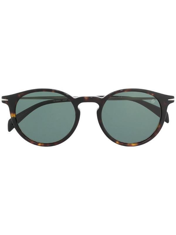 Eyewear by David Beckham tortoiseshell round-frame sunglasses in black