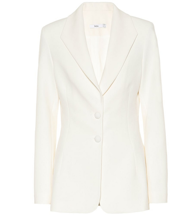 Safiyaa Koemi crêpe blazer in white