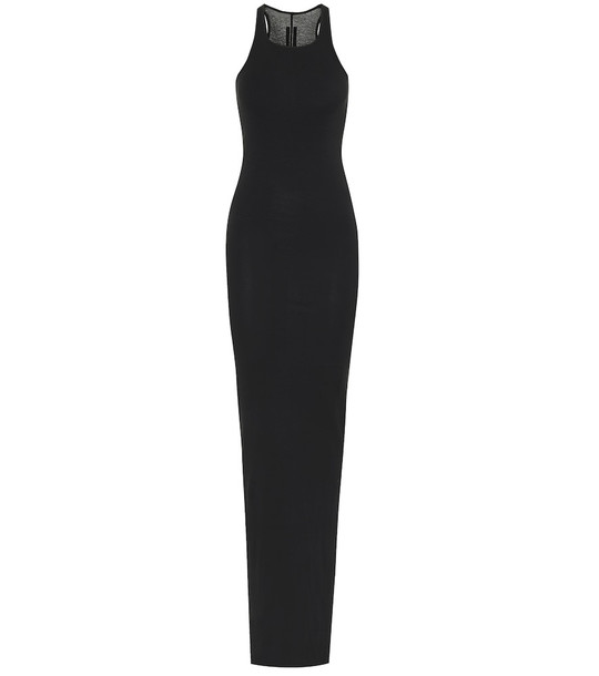 Rick Owens Cotton maxi dress in black