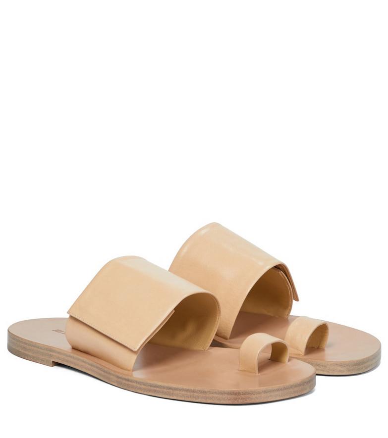 Jil Sander Leather sandals in beige