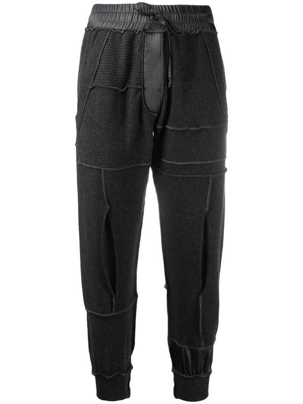 Andrea Ya'aqov elasticated cashmere track pants in grey
