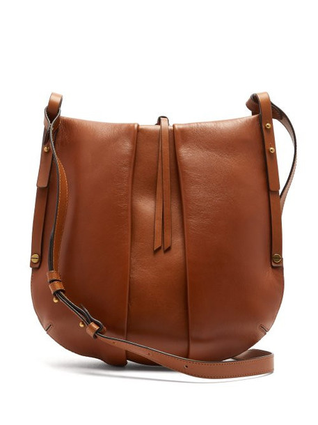 Isabel Marant - Lecky Panelled Leather Cross Body Bag - Womens - Brown
