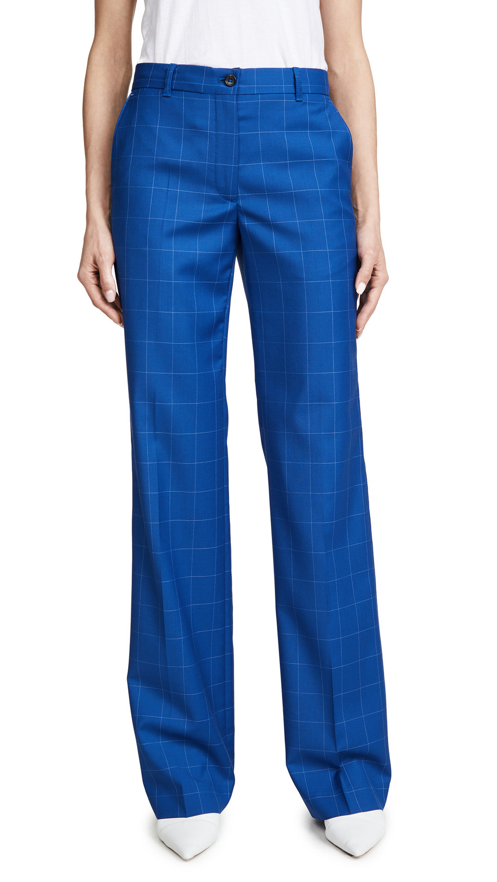Paul Smith Windowpane Plaid Trousers in blue