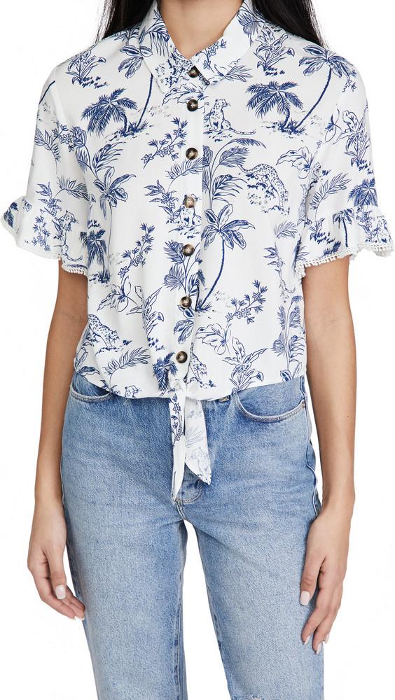 Lost + Wander Lost + Wander Blue Palm Nights Shirt