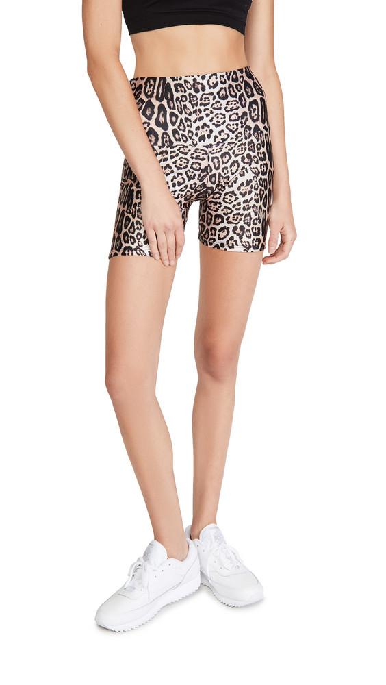 Onzie Biker Short Shorts in leopard