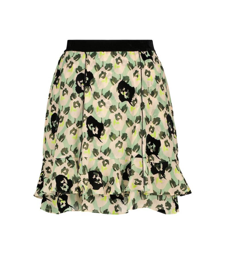 Dorothee Schumacher Flower Patch miniskirt in green