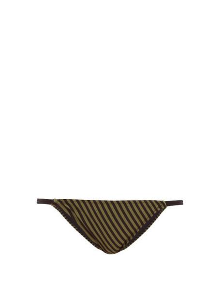 Solid & Striped - Morgan Striped Bikini Briefs - Womens - Green Stripe