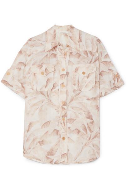 Zimmermann - Super Eight Printed Ramie Shirt - Ecru