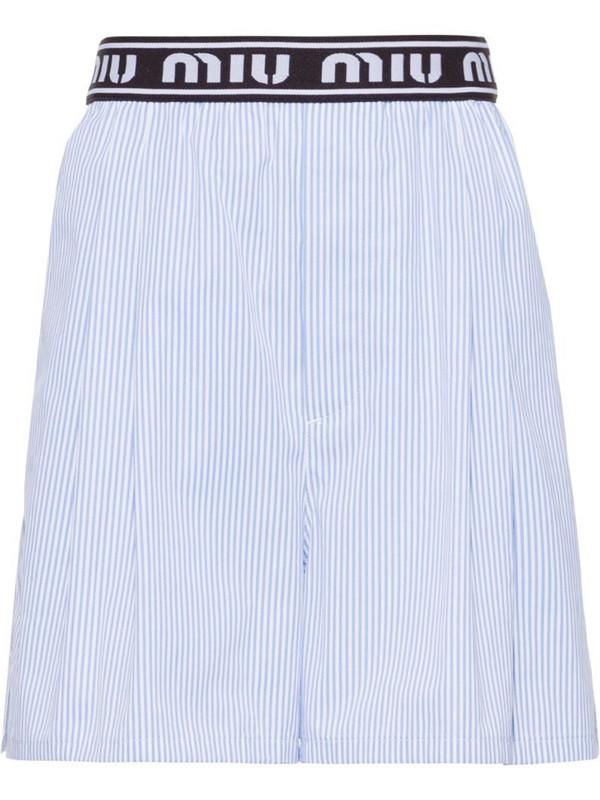 Miu Miu striped shorts in blue