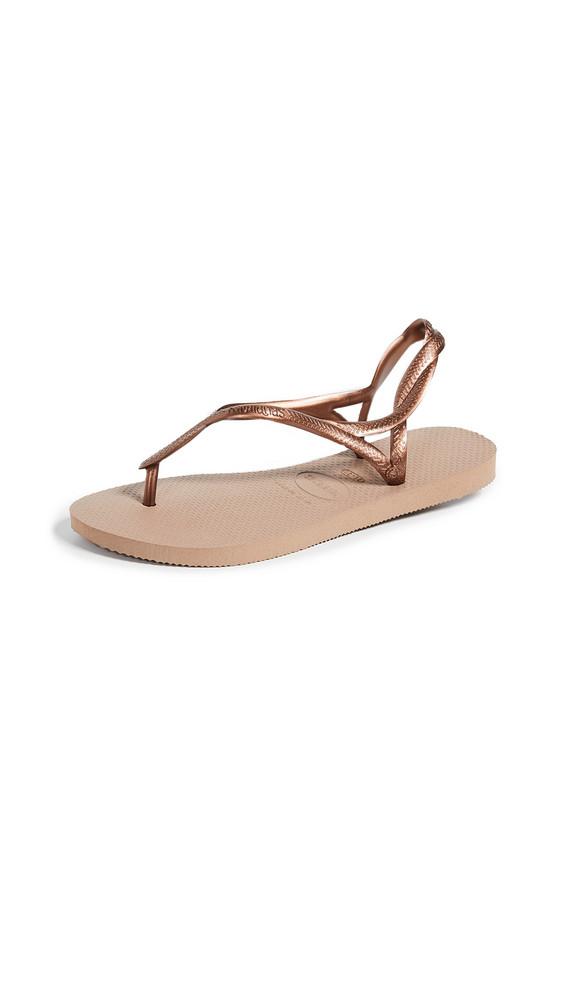 Havaianas Luna Sandals in gold / rose