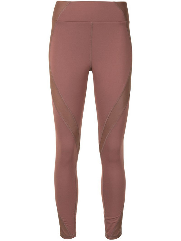 Michi panelled sports leggings in brown