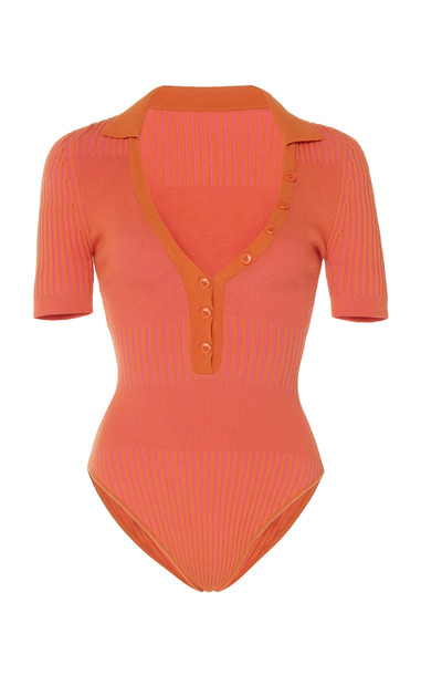 Jacquemus Le Body Yauco Stretch-Knit Bodysuit Size: 34