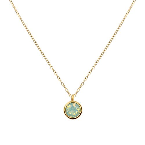 18K Gold Plated Pacific Swarovski Opal Necklace