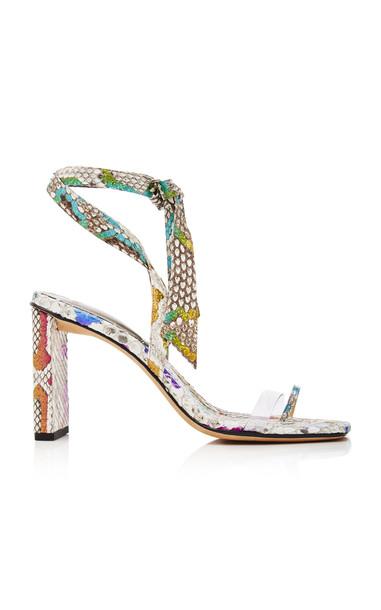 Alexandre Birman Katie PVC-Trimmed Python Sandals in multi
