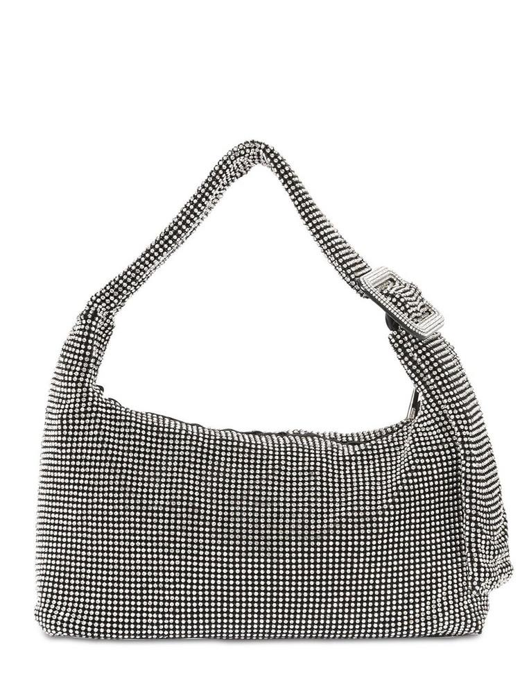 BENEDETTA BRUZZICHES Pina Bausch Crystal Mesh Shoulder Bag in black / silver