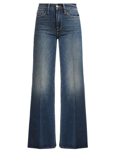 Frame - Le Palazzo Wide Leg Jeans - Womens - Dark Blue