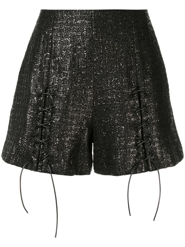 Olivier Theyskens metallic shorts in black