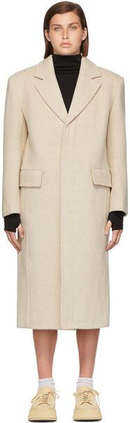 Blossom Off-White Ami Single Coat in beige