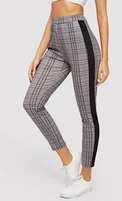 pants,girly,girl,girly wishlist,plaid,high waisted,plaid pants