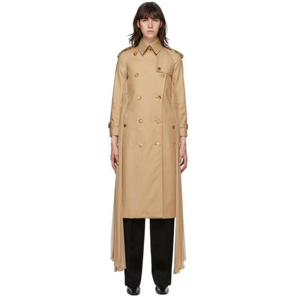Burberry Beige Twill Sash Coat