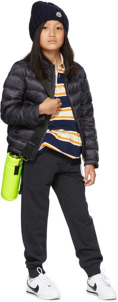 Moncler Enfant Kids Navy Logo Big Kids Lounge Pants