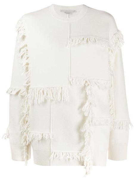 Stella McCartney fringed sweater in white
