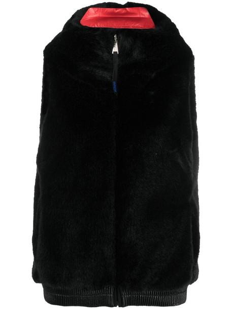 Rossignol reversible eco-fur vest in black