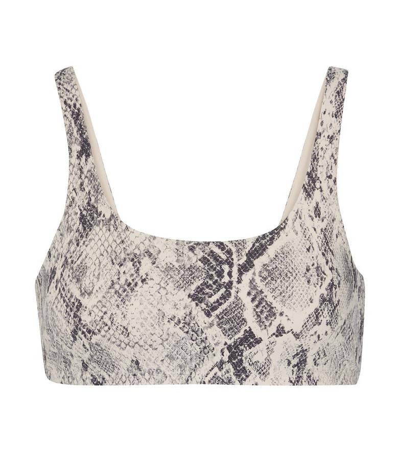 Alo Yoga Vapor snake-print sports bra in white