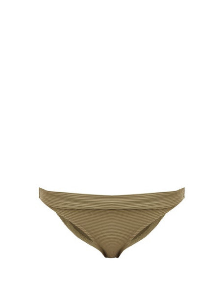 Heidi Klein - Venice Fold Over Bikini Briefs - Womens - Khaki
