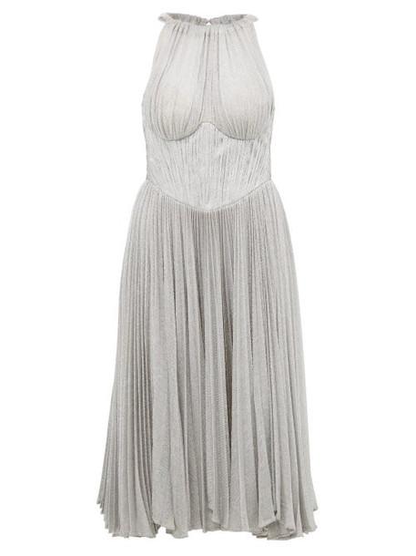 Maria Lucia Hohan - Bria Halterneck Metallic Dress - Womens - Silver