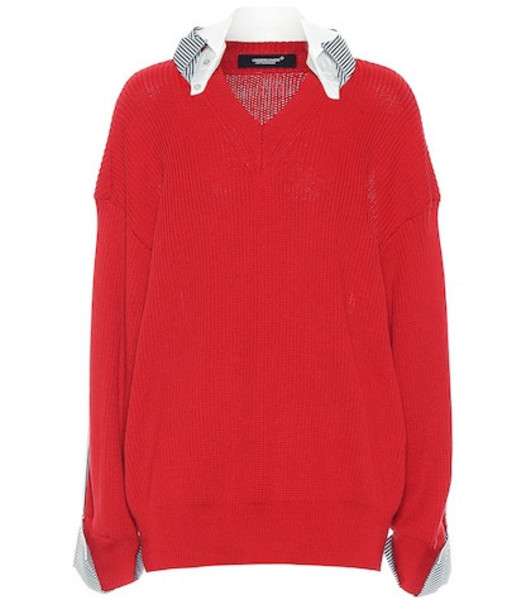 Undercover Cotton sweater in red