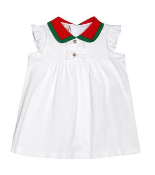 Gucci Kids Cotton-blend dress in white