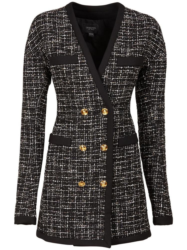 GIAMBATTISTA VALLI Lurex Bouclé Mini Dress in black / grey