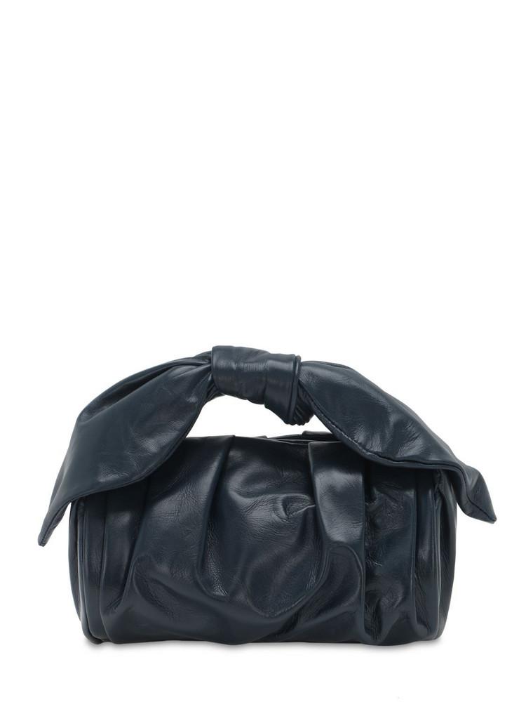 REJINA PYO Nane Smooth Leather Bag in navy
