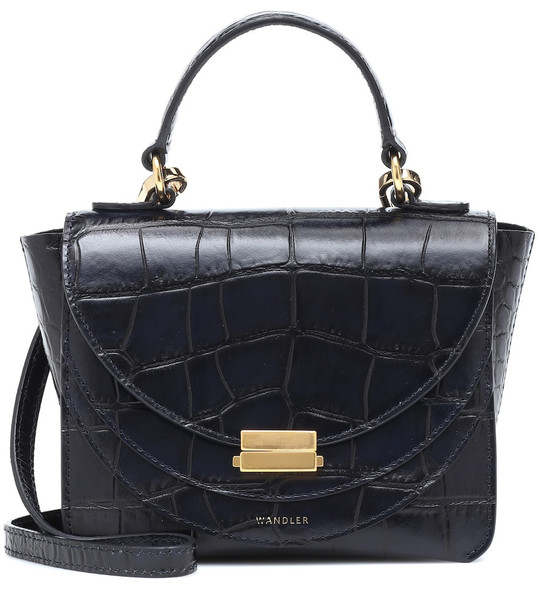 Wandler Luna Mini leather shoulder bag in black