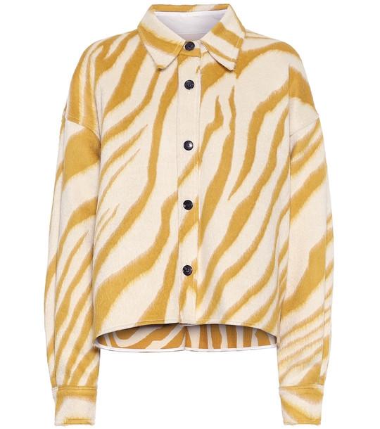 Isabel Marant Hanao virgin wool shirt in yellow