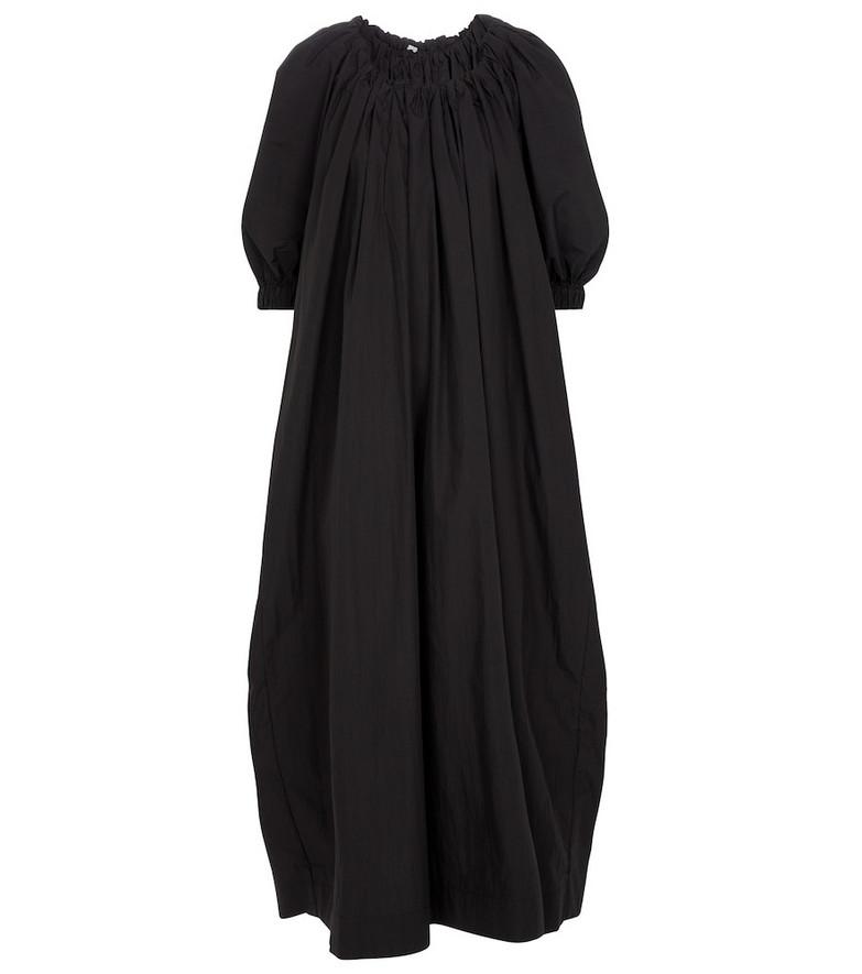 Co Cotton-blend maxi dress in black
